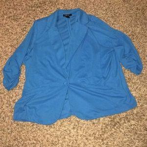 Plus size stretch blazer